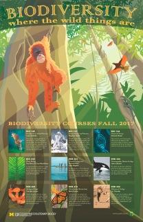 Poster for UM EEB biodiversity courses fall 2017. Illustrator