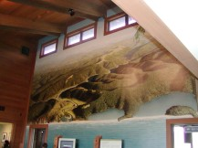 Mural at Redwood Interpretive Ctr. Orick CA