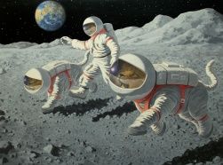 Lions on the moon